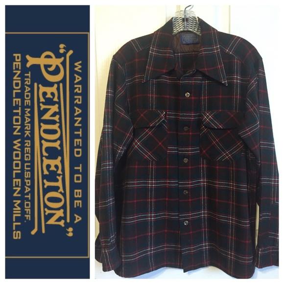 Pendleton Other - Pendleton Red Green Wool Flannel Shirt Sz M